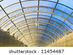 Arch Of Long Tunnel With Glass...