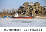 montreal jan. 23  a view of... | Shutterstock . vector #1145463881