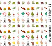 spices condiments seamless...   Shutterstock .eps vector #1145469431