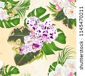 seamless texture bouquet with... | Shutterstock .eps vector #1145470211