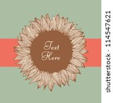sunflower text banner. design... | Shutterstock .eps vector #114547621