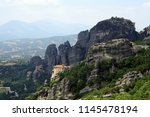 meteora  place with the... | Shutterstock . vector #1145478194