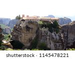 meteora  place with the... | Shutterstock . vector #1145478221