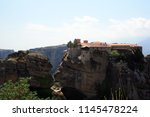 meteora  place with the... | Shutterstock . vector #1145478224
