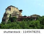 meteora  place with the... | Shutterstock . vector #1145478251