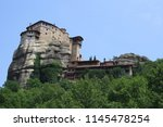meteora  place with the... | Shutterstock . vector #1145478254