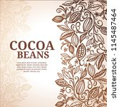 cacao beans plant  vector... | Shutterstock .eps vector #1145487464