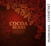 cacao beans plant  vector... | Shutterstock .eps vector #1145487467