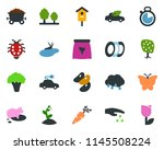 colored vector icon set  ... | Shutterstock .eps vector #1145508224