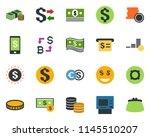 colored vector icon set  ... | Shutterstock .eps vector #1145510207