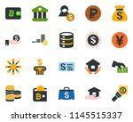 colored vector icon set  ... | Shutterstock .eps vector #1145515337