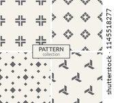set of four seamless patterns.... | Shutterstock .eps vector #1145518277
