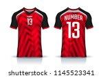t shirt sport design template ... | Shutterstock .eps vector #1145523341