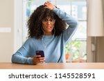 beautiful african american... | Shutterstock . vector #1145528591