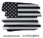 usa flag in grunge style.vector ... | Shutterstock .eps vector #1145528891