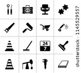 set of 16 work filled icons...   Shutterstock .eps vector #1145529557