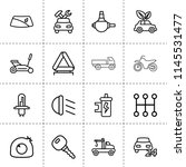 set of 16 vehicle outline icons ... | Shutterstock .eps vector #1145531477