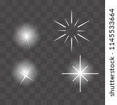 set of vector glowing light...   Shutterstock .eps vector #1145533664