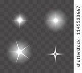 set of vector glowing light...   Shutterstock .eps vector #1145533667