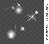 set of vector glowing light...   Shutterstock .eps vector #1145535047