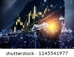 stock market data on digital... | Shutterstock . vector #1145541977