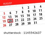 calendar planner for the month  ... | Shutterstock . vector #1145542637