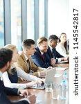 positive adult business...   Shutterstock . vector #1145542817