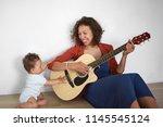 people  lifestyle  motherhood...   Shutterstock . vector #1145545124