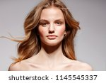 young teenager fashion model... | Shutterstock . vector #1145545337