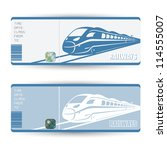 train tickets   vector... | Shutterstock .eps vector #114555007