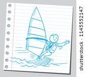 businessman surfing on wind... | Shutterstock .eps vector #1145552147