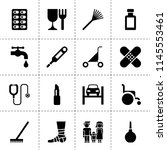 set of 16 care filled icons... | Shutterstock .eps vector #1145553461