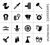 set of 16 rubber filled icons...   Shutterstock .eps vector #1145553491