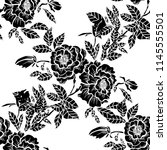 elegant seamless pattern with... | Shutterstock .eps vector #1145555501