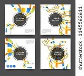 set of square color brochures ...   Shutterstock .eps vector #1145562611