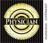 physician golden emblem | Shutterstock .eps vector #1145566337