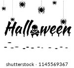 happy halloween text banner... | Shutterstock .eps vector #1145569367