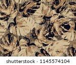 leaves silhouette seamless... | Shutterstock . vector #1145574104