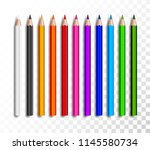 design set of realistic colored ... | Shutterstock .eps vector #1145580734