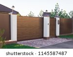 automatic sliding sliding... | Shutterstock . vector #1145587487