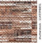 seamless bold plaid pattern... | Shutterstock . vector #1145598851