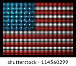 USA dotted led flag illustration. Vector file layered for easy manipulation and custom coloring. - stock vector