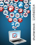 usa elections online voting ... | Shutterstock .eps vector #114560314