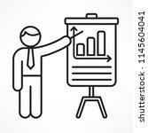 flip chart  linear business... | Shutterstock .eps vector #1145604041