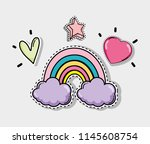 cute and lovely cartoons | Shutterstock .eps vector #1145608754