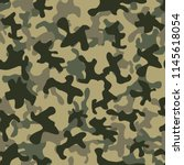 camouflage seamless repeatable... | Shutterstock .eps vector #1145618054