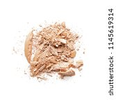 crushed eye shadow or face... | Shutterstock . vector #1145619314