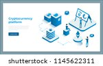 cryptocurrency exchange and... | Shutterstock .eps vector #1145622311