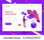 secure payment people and... | Shutterstock .eps vector #1145623547
