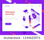 network security people and... | Shutterstock .eps vector #1145623571